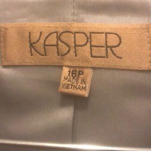 KASPER(NEW W/TAGS 2PC SILVER ACCORDION PLEAT SKRT